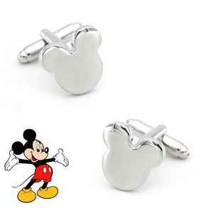 Silver Mickey Mouse Head Cufflinks